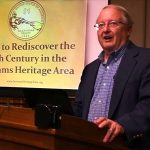 Dr. Weed presents Sowams at a Bristol Historical & Preservation Society program