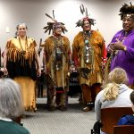 The Pokanoket Tribe performs at the Bristol Library