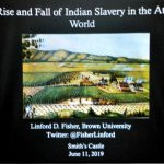 Dr. Linford Fisher presents on Native American Slavery at Smith's Castle