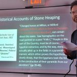 State archaeologist Timothy Ives talks about stone heaping practices of New England farmers
