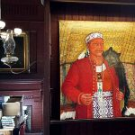 New Massasoit painting now on display at the George Hail Library in Warren