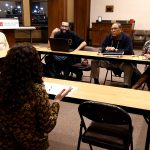 Local tribal chiefs meet with the Rhode Island Foundation representative
