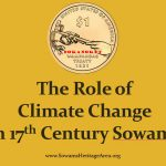 The role of climate change in 17th century Sowams
