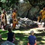 Pokanoket Tribe members tell campers about their history