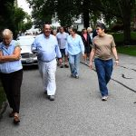 Van Edwards leads a tour of historic Jennys Lane in Barrington