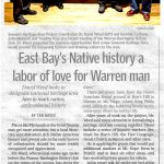 East Bay's Native history a labor of love for a Warren man