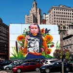 Princess Red Wing, well known Pokanoket historian featured on Providence mural