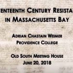 17th-Century Resistance by historian Adrian Chastain Weimer