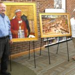 Pokanoket paintings now on display at the Weaver Library in East Providence