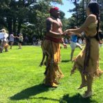 Wampanoags visit the Bassetlaw Museum in Retford, England